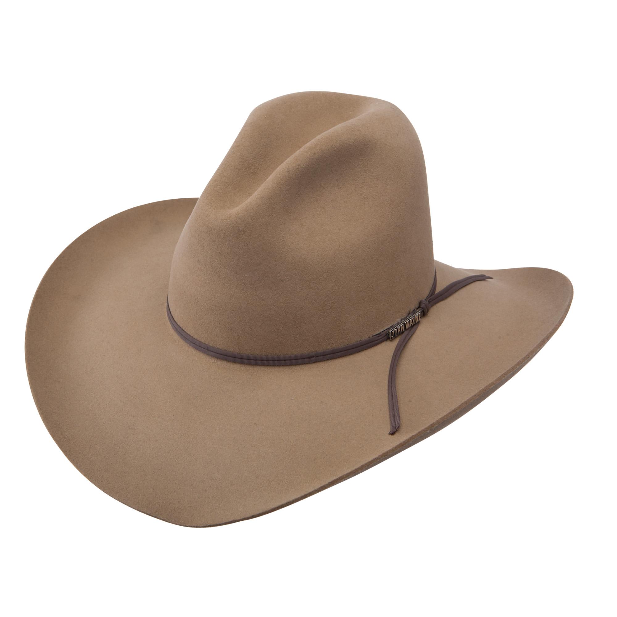 RESISTOL JOHN WAYNE FORT CRUSHABLE WOOL COWBOY WESTERN HAT