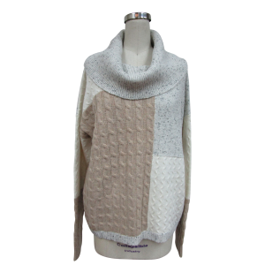 Women's  Color Block Cowl Neck Sweater