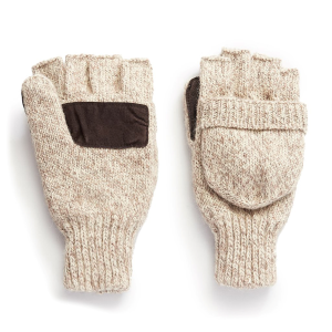 Men's  Rag Wool Pop-Top Mitten