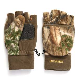 Men's  Bulls-Eye Fuzzy Fleece Fingerless Pop-Top Mitten