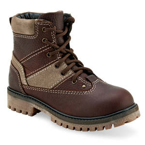 Kids'  Lace-Up Oiled Rust Camel Boot
