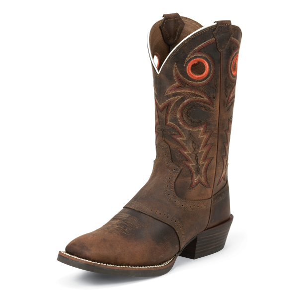 Silver Saddle Vamp Boot-Whiskey Buffalo