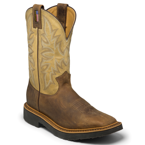 "11"" Scottsbluff Square Toe Work Boot"