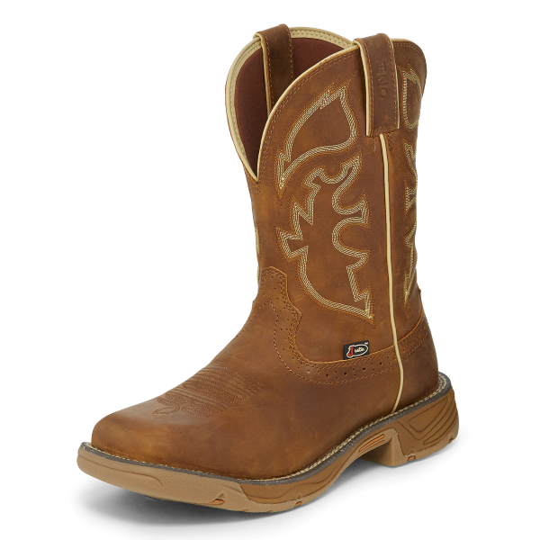 Rustic Tan Waterproof Soft Toe Work Boot
