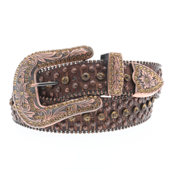 Gold Rhinestone Studded Belt
