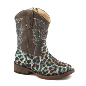 Girls'  Infant Glitter Leopard Boot