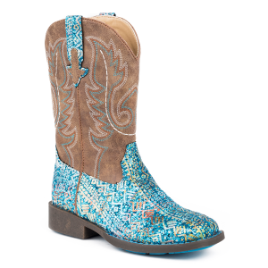 Girls'  Glitter Aztec Square Toe Boot