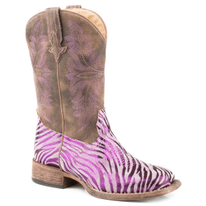 Girls'  Metallic Zebra Boot