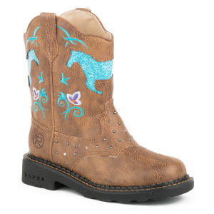 Girls'  Horse Flowers Boot