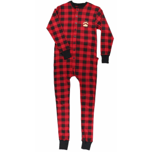 Bear Cheeks Plaid Flapjacks Onesie