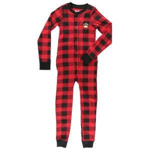 Kids'  Bear Cheeks Plaid Flapjacks Onesie