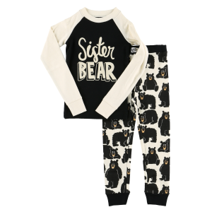 Girls'  Sister Bear Long Sleeve PJ Set