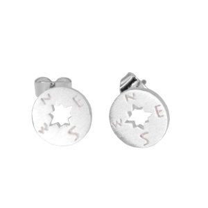 Women's  Compass Post Earrings