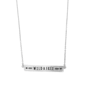 Women's  Wild And Free Horizontal Bar Necklace