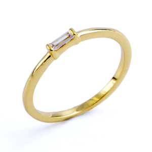 Women's  Rectangle Crystal Ring