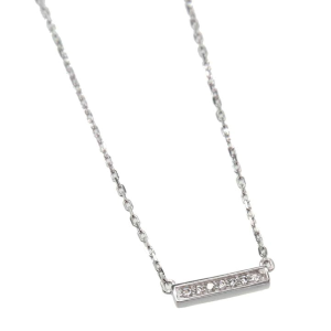 Women's  Crystal Bar Necklace