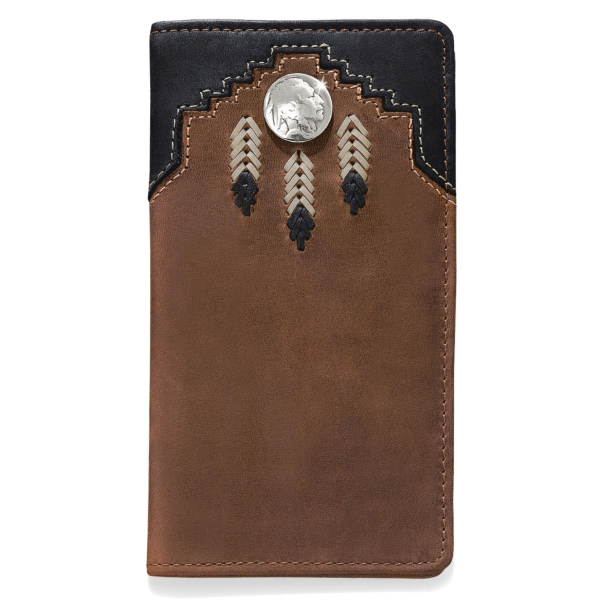 Chieftain Feather Checkbook Wallet