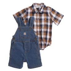 Boys'  Infant Denim Shortall Set image
