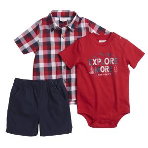c1b1a21f2 Carhartt. Boys' Infant Canvas Shortall Set. $26.99. Boys' Infant Explore  More 3-Piece Short Gift Set