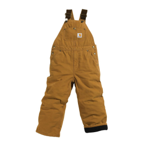 Boys'  Washed Duck Lined Bib Overall