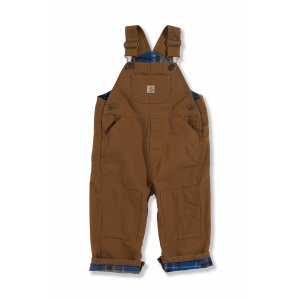 Boys'  Infant Toddler Washed Duck Flannel Lined Bib Overall