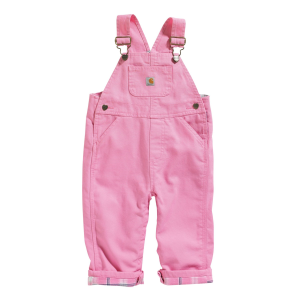 Girls'  Infant Toddler Washed Canvas Flannel Lined Overall