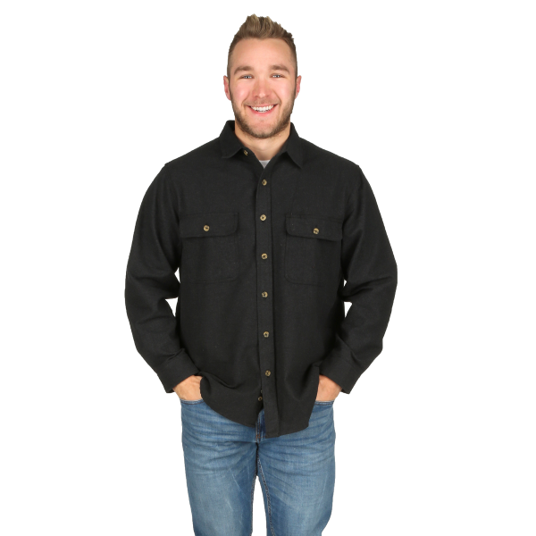 Long Sleeve Chamois Button Down Shirt