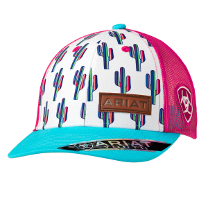 Girls'  Multi-Colored Cactus Snap Back Cap