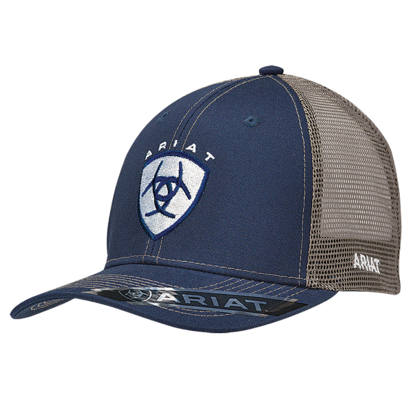 Navy/Gray Shield Logo Snap Back Cap