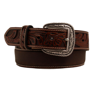 Men's  Tooled Leather Belt