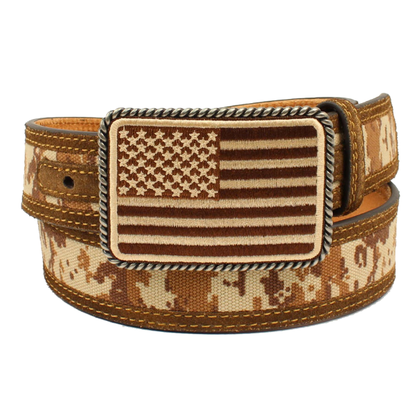 "1-1/2"" Digital Camo Flag Buckle Belt"