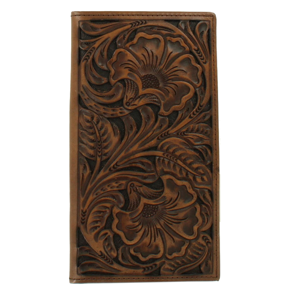 Floral Embossed Leather Rodeo Wallet