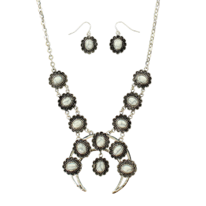 Women's  Squash Blossom Concho Accented Jewelry Set