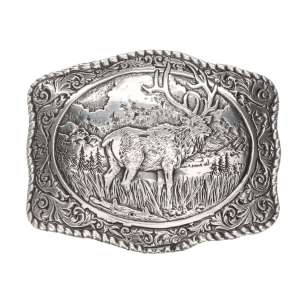 Rectangle Elk Belt Buckle