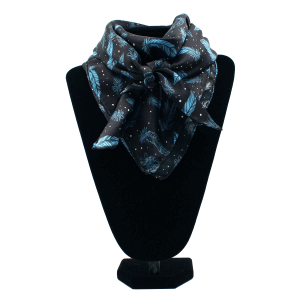 Silk Wild Rag - Navy Feather