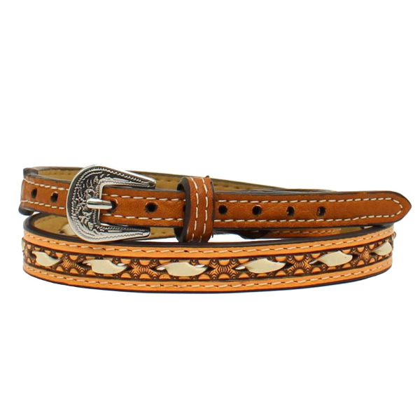 Ivory Rawhide Laced Hatband