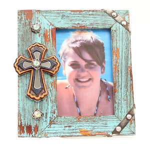 4 x 6 Turquoise Cross Frame
