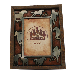 5 x 7 Silver Horses Picture Frame