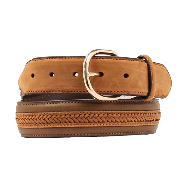 Braided Leather Stitched Belt