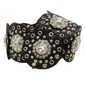 Women's  Wide Eyelet Circle Belt