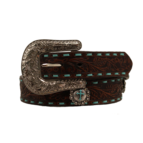 Turquoise Stitch Embroidered Belt