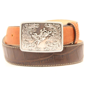Boys'  Gator Rust Tabs Belt