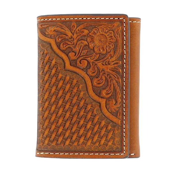 Tooled Tri-Fold Wallet