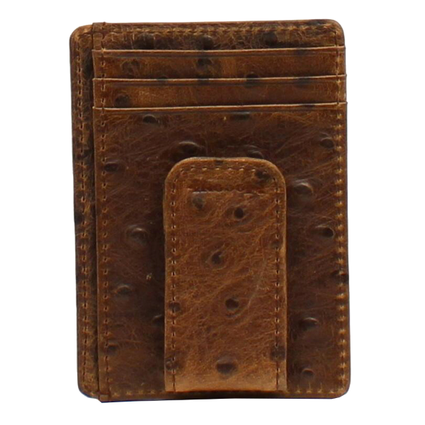 Ostrich Print Money Clip