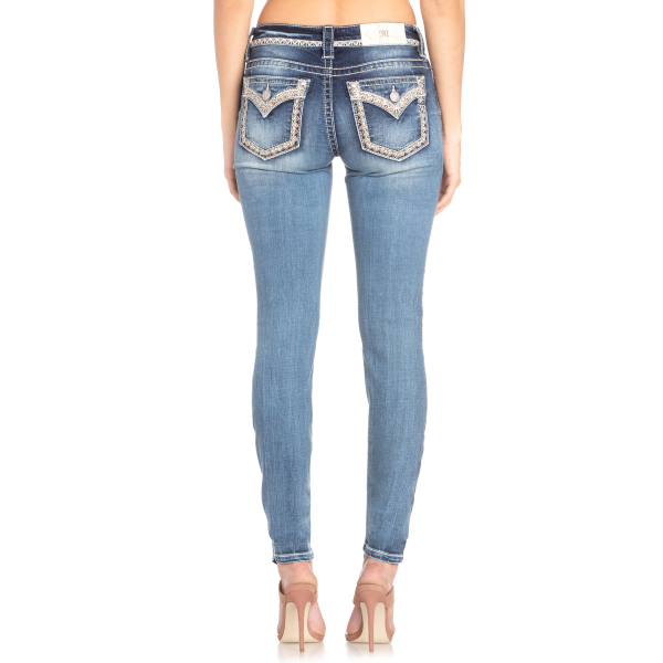 Diamonds and Lace Skinny Jean