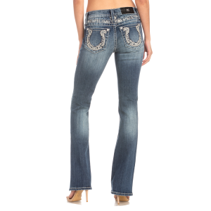 Women's  Horseshoe Stud Boot Cut Jean