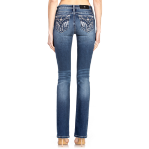 Women's  Feather X-Shaped Boot Cut Jean