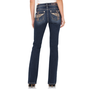 Women's  Flower Garden Wing Boot Cut Jean