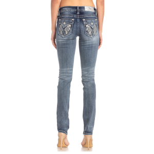 Women's  Feather Flap Pocket Straight Leg Jean