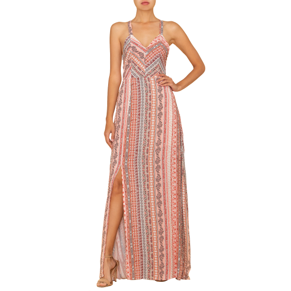 Boho Side Slit Dress